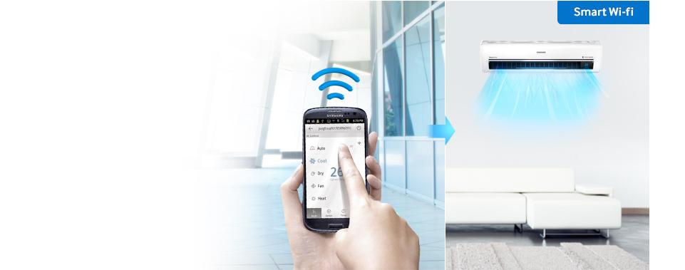 Samsung Smart värmepump med Wifi