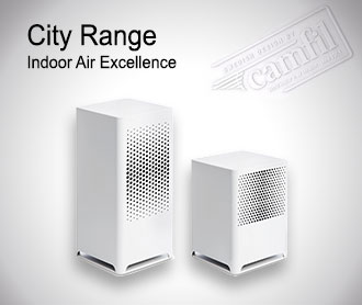Camfil City luftrenare är utrustad med marknadens mest effektiva Absolute HEPA partikel- och molekylärfilter.