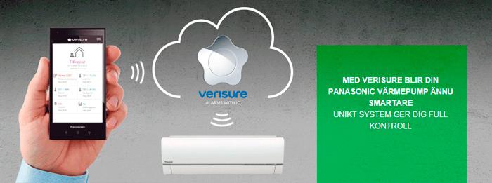 Panasonic värmepump och Verisure
