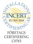 Incert företagscertifikat
