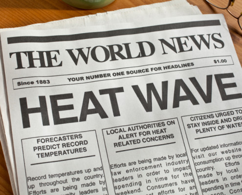 Rekordvärme i sommar