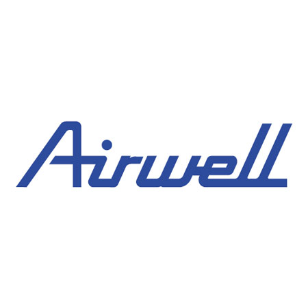 Airwell logga i blått mot vit bakgrund.
