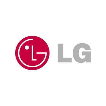 LG logga med gtå text och röd gubbe.