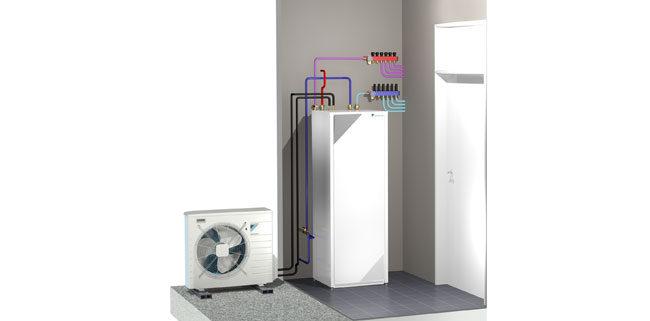 Värmepumpen med installation
