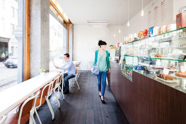 Luftkonditionering i kafé