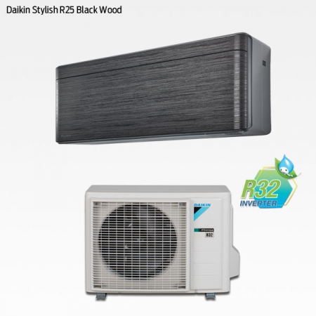 Daikin Stylish R25 Black Wood